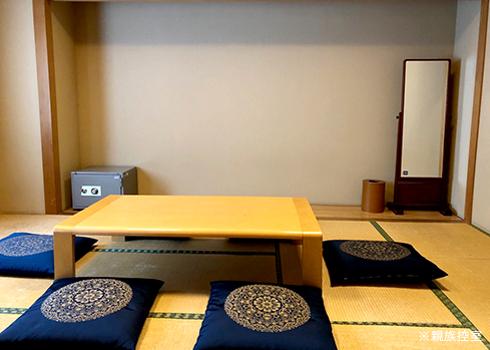かわさき南部斎苑の休憩室