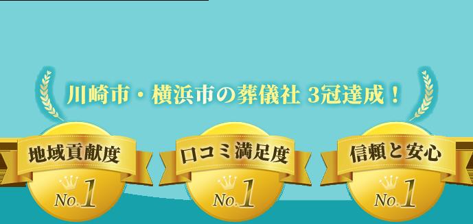 地域貢献度NO.1 口コミ満足度NO.1 信頼と安心NO.1